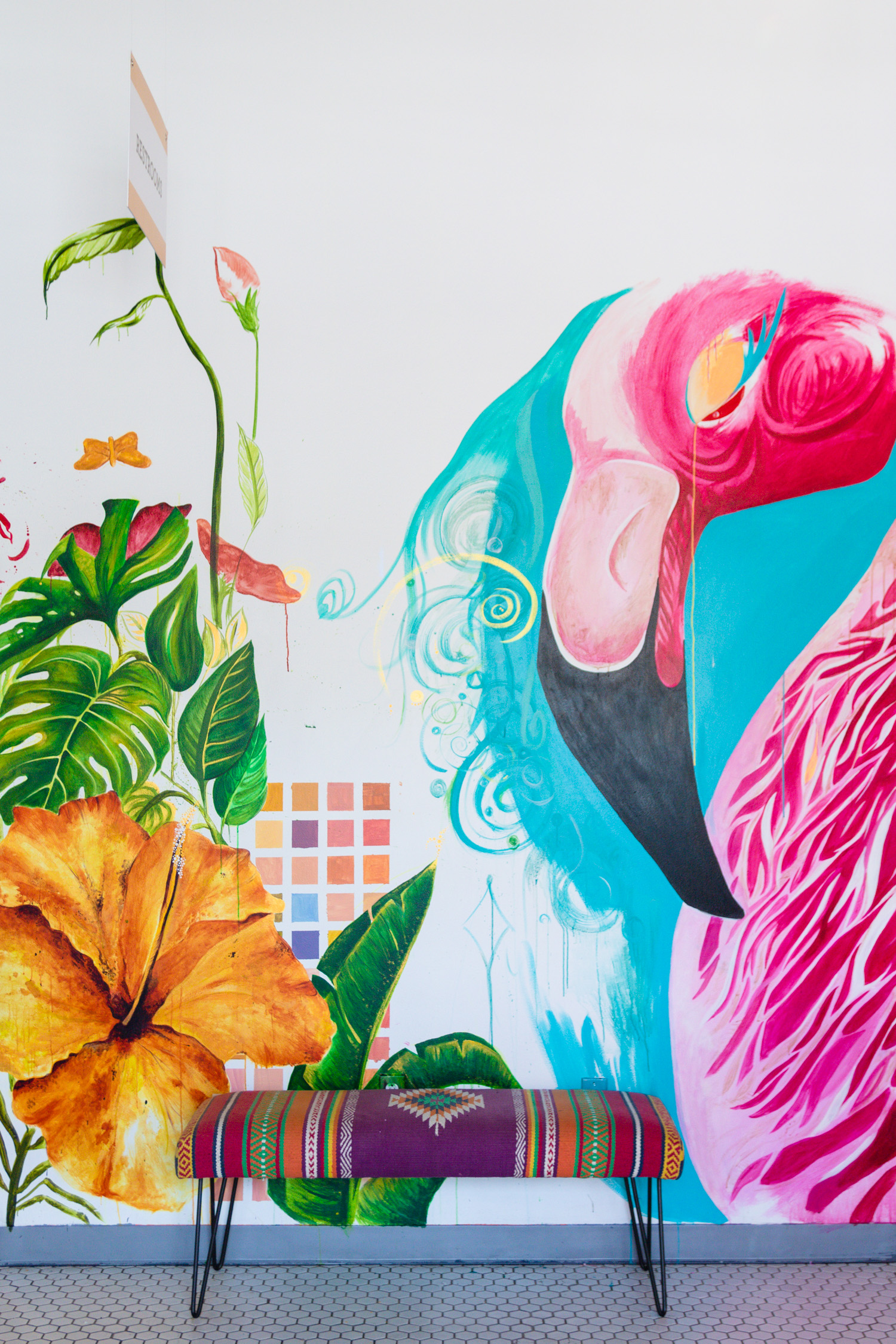 flamingo wall jmeyering creative - J.Meyering Creative