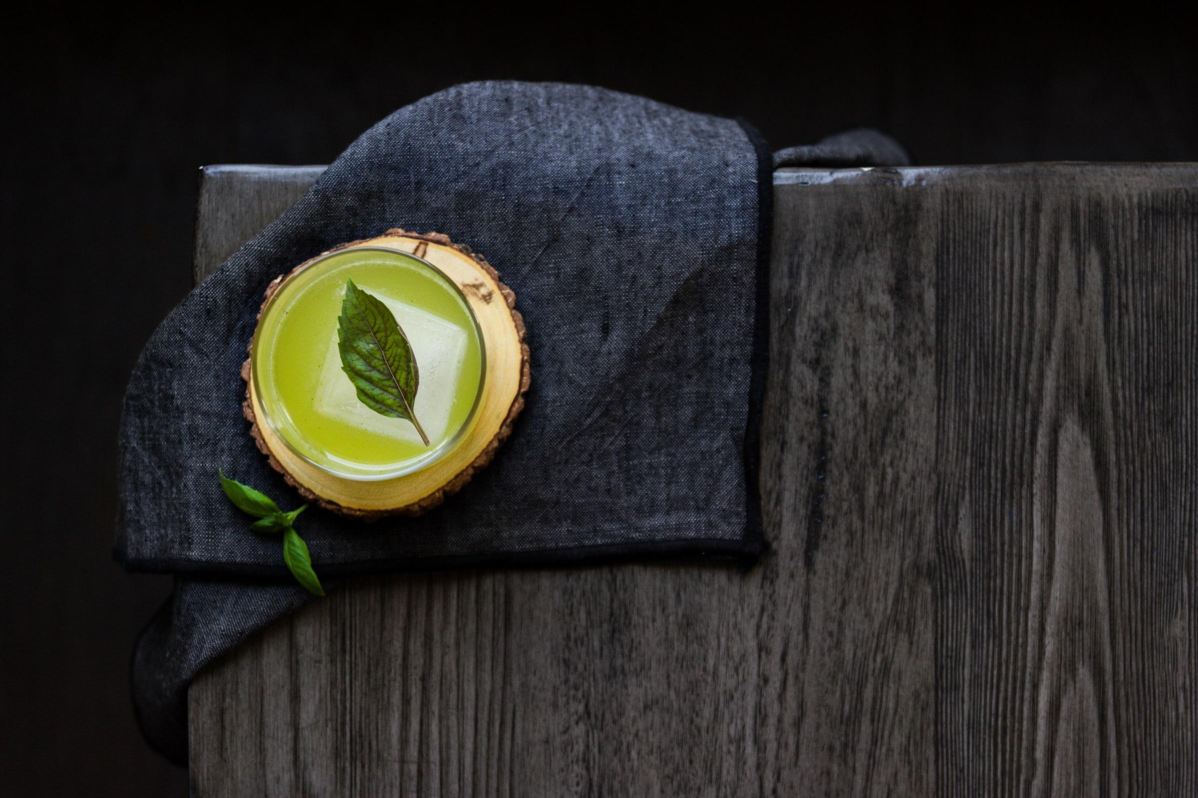 basil gin smash cover - J.Meyering Creative